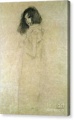 1918 Canvas Print - Portrait Of A Young Woman by Gustav Klimt