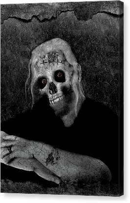 Portrait Of A Zombie Canvas Print