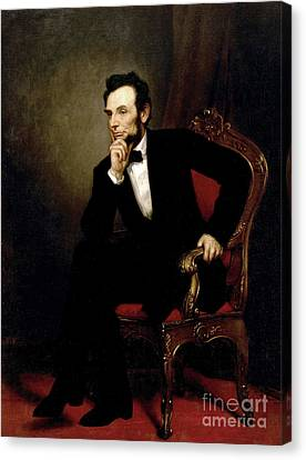 Portrait Of Abraham Lincoln, 1869  Canvas Print by George Peter Alexander Healy