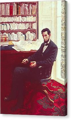Portrait Of Abraham Lincoln Canvas Print by Howard Pyle