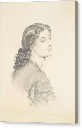 Portrait Of Ada Vernon Canvas Print