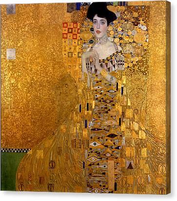 Portrait Of Adele Block-bauer Canvas Print by Gustav Klimt