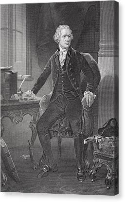 Patriots Canvas Print - Portrait Of Alexander Hamilton by Alonzo Chappel