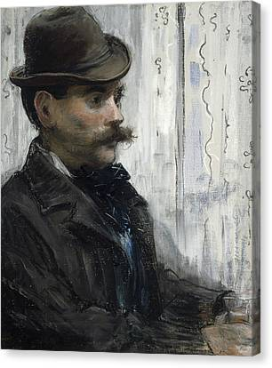 Portrait Of Alphonse Maureau Canvas Print by Edouard Manet