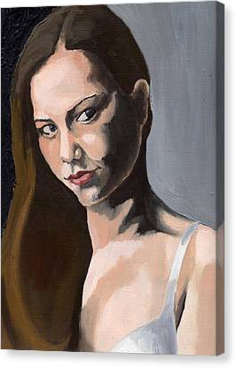 Portrait Of Amanda Canvas Print