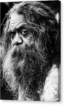 Portrait Of An Australian Aborigine Canvas Print by Sheila Smart Fine Art Photography