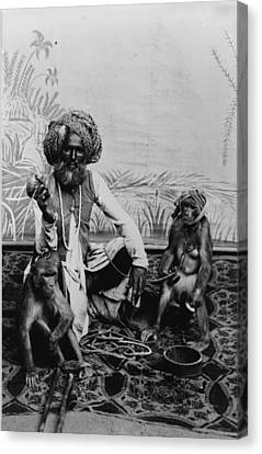 Portrait Of An Indian Fakir Canvas Print by Everett
