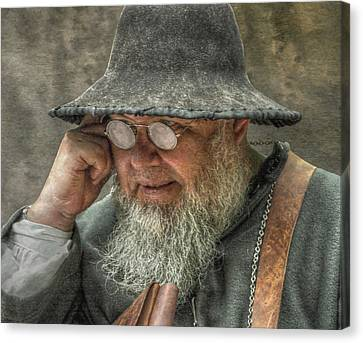 Portrait Of An Old Man Canvas Print by Randy Steele