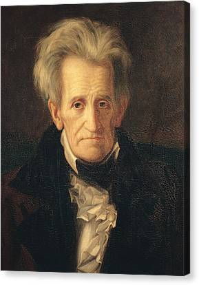 Portrait Of Andrew Jackson Canvas Print by George Peter Alexander Healy