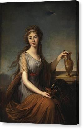 Portrait Of Anna Pitt As Hebe Canvas Print