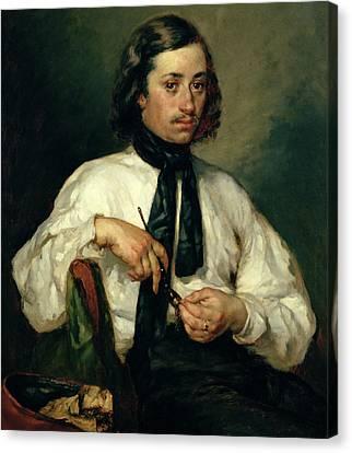 Cravat Canvas Print - Portrait Of Armand Ono by Jean-Francois Millet