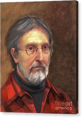 Portrait Of Barry Canvas Print by Terri  Meyer