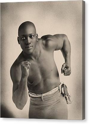 Portrait Of Boxer Jack Johnson Canvas Print