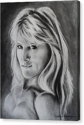 Portrait Of  Carla Canvas Print by Carla Carson