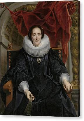 Portrait Of Catharina Behaghel Canvas Print by Jacob Jordaens