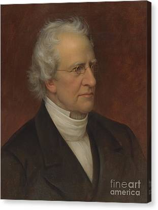 Portrait Of Charles Hodge Canvas Print by Rembrandt Peale