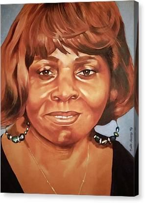 Portrait Of Chelsea Batty Canvas Print