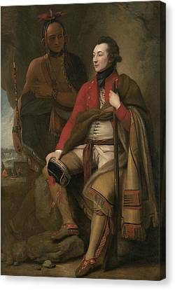 Portrait Of Colonel Guy Johnson Canvas Print by Benjamin West