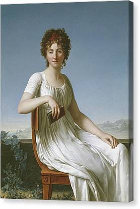 Portrait Of Constance Pipelet Canvas Print by Jean Baptiste Francois Desoria