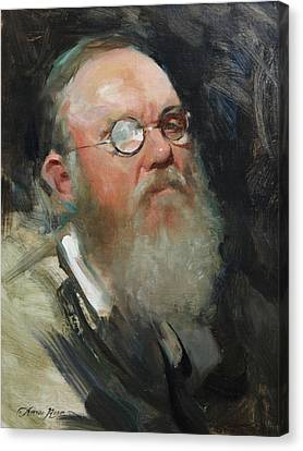 Portrait Of Dave Canvas Print by Anna Rose Bain