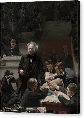 Portrait Of Dr. Samuel D. Gross  Canvas Print
