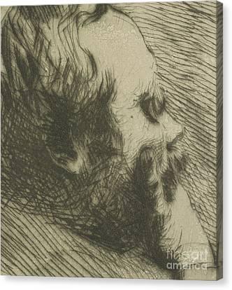 Portrait Of Edgar Degas Canvas Print by Giuseppe Nittis