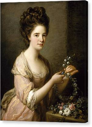 Portrait Of Eleanor, Countess Of Lauderdale Canvas Print by Angelica Kauffman