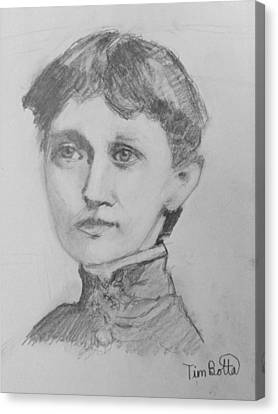 Portrait Of Emma Curtis Hopkins Canvas Print by Tim Botta