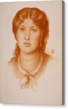 Portrait Of Fanny Cornforth Canvas Print by Dante Gabriel Rossetti