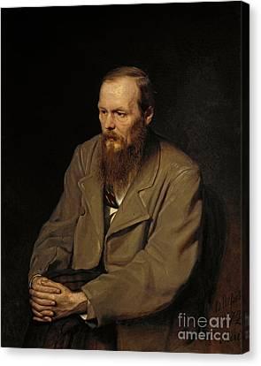 Portrait Of Fedor Dostoyevsky Canvas Print