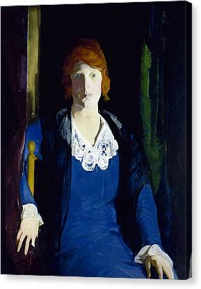 Portrait Of Florence Pierce Canvas Print by George Bellows