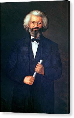Portrait Of Frederick Douglass Canvas Print by American School