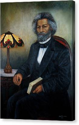 Portrait Of Frederick Douglass Canvas Print