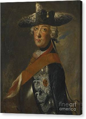 Portrait Of Frederick The Great Of Prussia Canvas Print