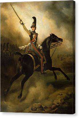 Graf Canvas Print - Portrait Of Friedrich Heinrich by Emile Jean Horace Vernet