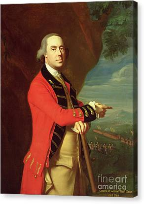 Portrait Of General Thomas Gage Canvas Print