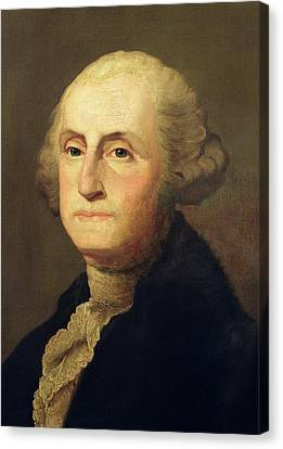 Portrait Of George Washington Canvas Print by Gilbert Stuart