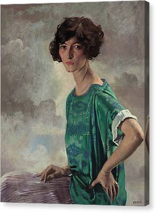 Portrait Of Gertrude Sanford Canvas Print by William Orpen