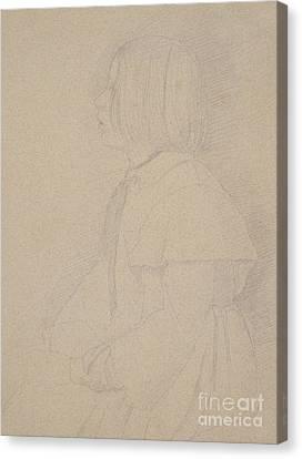 Edgar Degas Canvas Print - Portrait Of Giulia Bellelli by Edgar Degas