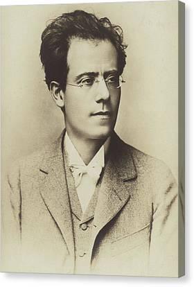 Portrait Of Gustav Mahler Canvas Print by Austrian School