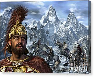 Portrait Of Hannibal And His Troops Canvas Print by Kurt Miller