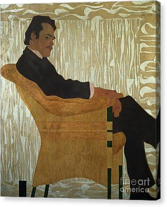 Portrait Of Hans Massmann Canvas Print by Egon Schiele