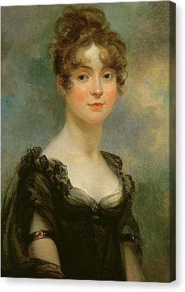 Youthful Canvas Print - Portrait Of Harriet Leonard Bull  by Arthur William Devis