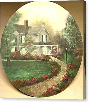 Portrait Of Home Canvas Print by Nicholas Minniti