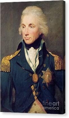 Cravat Canvas Print - Portrait Of Horatio Nelson by Lemuel Francis Abbott