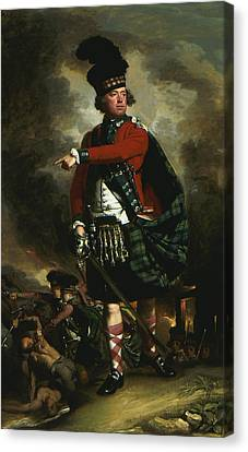 Portrait Of Hugh Montgomerie Canvas Print by John Singleton Copley