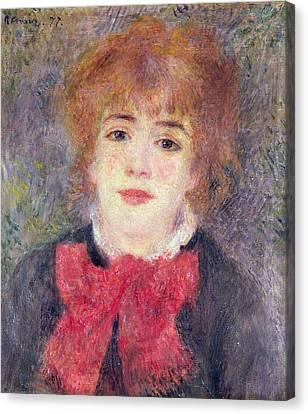 Portrait Of Jeanne Samary Canvas Print by Renoir