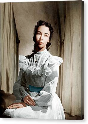 Portrait Of Jennie, Jennifer Jones, 1948 Canvas Print by Everett
