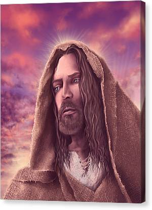 Portrait Of Jesus Canvas Print
