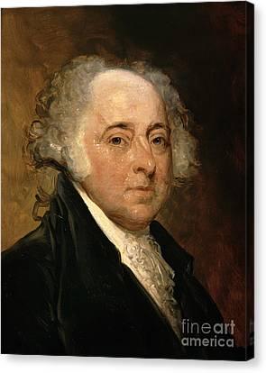 Portrait Of John Adams Canvas Print by Gilbert Stuart